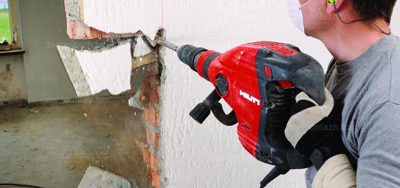 как быстро разобрать кирпичную стену